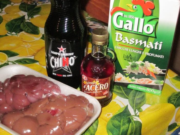 Ingredienti per il Rognone!