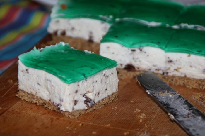 cheesecake stracciatella menta